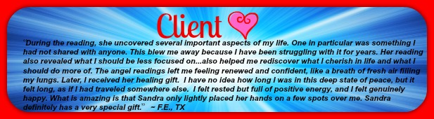 Client Love Sandra Denise Molina Angel Reading and Healing